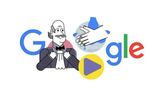 Google si pripomína Ignáca Filipa Semmelweisa, ktorý navrhol umývanie rúk ako prevenciu pred šírením chorôb