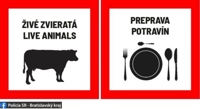 Polícia žiada vodičov, aby umožňovali prejazd vozidlám so živými zvieratami a potravinami