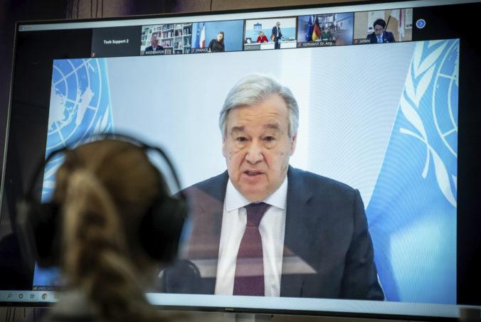 Šéf OSN António Guterres berie koronavírus ako príležitosť na prebudovanie sveta k lepšiemu