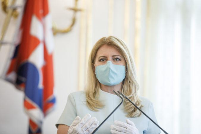 Zuzana Čaputová chce Slovensko pripravené na druhú vlnu koronavírusu, naznačila potrebné kroky