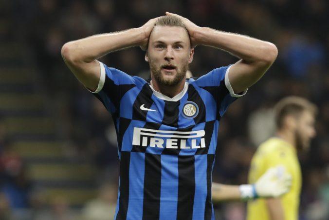 Škriniarove správanie počas zápasu má dohru, Interu Miláno bude chýbať v troch zápasoch za sebou