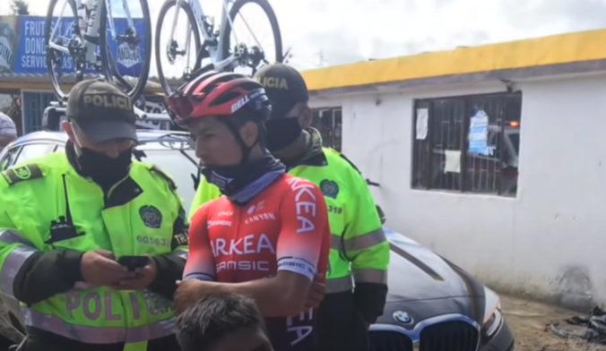 Naira Quintanu v priebehu tréningu zachytilo auto, informoval tím pretekára Arkéa-Samsic (video)