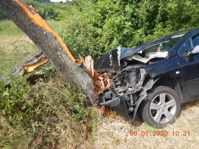 "Polícia ""náhodou"" vypátrala hľadaného podvodníka, na aute zišiel z cesty a narazil do stromu (foto)"