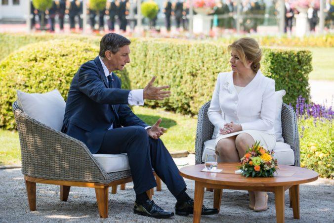 Slovensko navštívil slovinský prezident, s Čaputovou rokoval o investíciách aj zelenej ekonomike (foto)