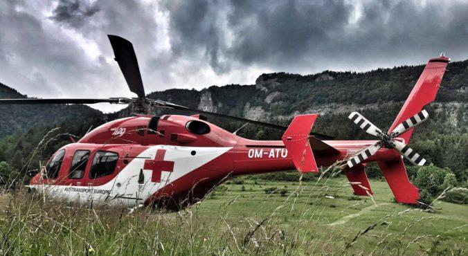 V Terchovej sa zranila česká turistka, záchrannú akciu skomplikovalo vrtuľníku počasie