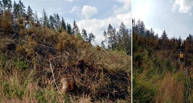 V obci Veľké Rovné vypukol požiar, zasahuje viac než dvadsať hasičov(foto)