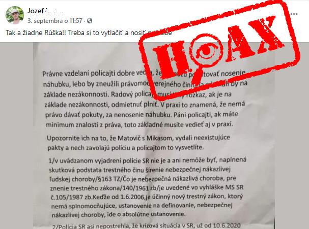 Papier, vďaka ktorému ste sa mali vyhnúť noseniu rúška, môžete zahodiť. Je to hoax