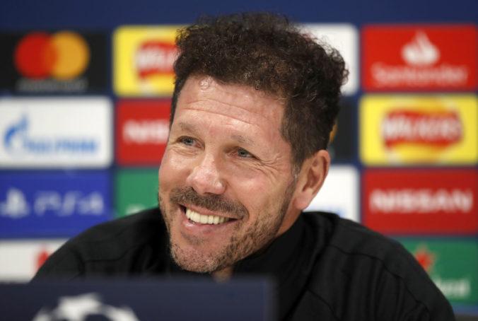 Tréner španielskeho tímu Atlético Madrid Diego Simeone mal pozitívny test na koronavírus