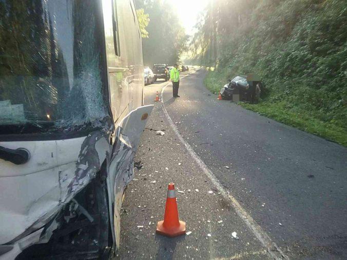 Hasiči zasahovali pri dvoch nehodách autobusov, v jednom sa viezli deti (foto)