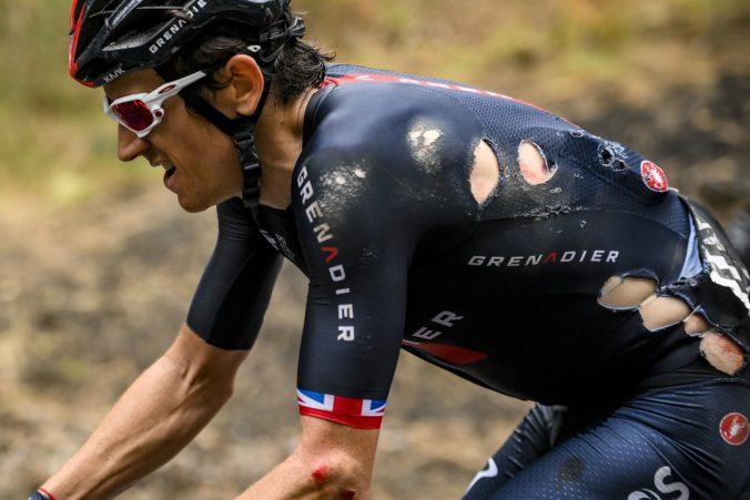 Thomas má zlomeninu v oblasti panvy a na Giro d'Italia skončil, osudným sa mu stal bidon