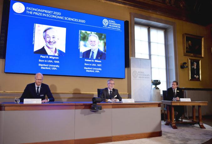 Nobelovu cenu za ekonómiu získali Američania Paul R. Milgrom a Robert B. Wilson