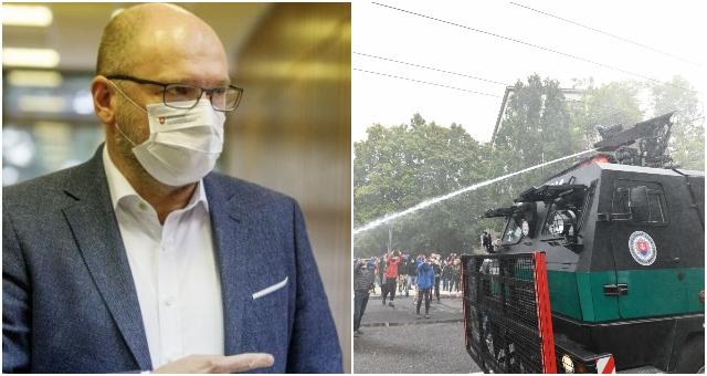 Sulík považuje použitie vodného dela na demonštrácii v Bratislave za zlyhanie