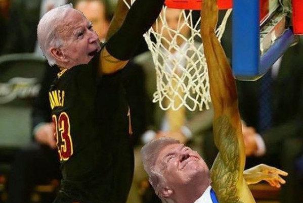 LeBron James vyjadril radosť s výsledkami volieb amerického prezidenta fotomontážou