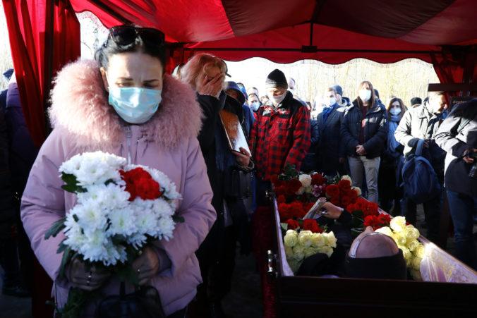 Na pohreb bieloruského aktivistu prišli tisícky ľudí, smútočný sprievod mal niekoľko kilometrov