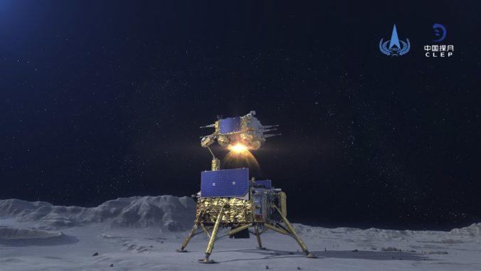 Čínska sonda Čchang-e 5 začala návrat na Zem, z Mesiaca prinesie vzorky hornín