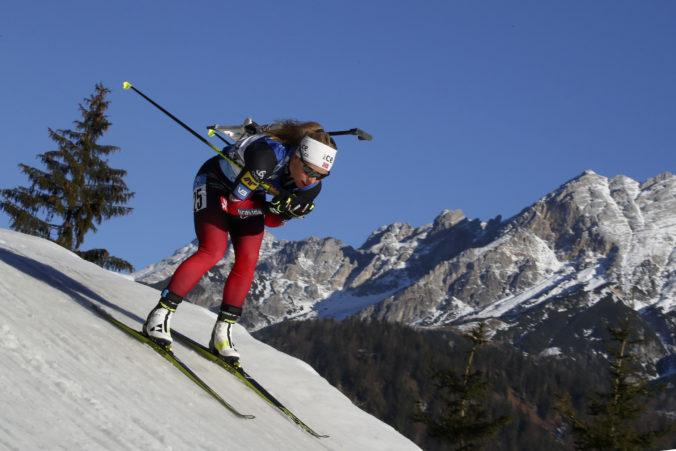Šprint biatlonistiek v Hochfilzene vyhrala Nórka Eckhoffová, Slovenky sú stále bez bodu