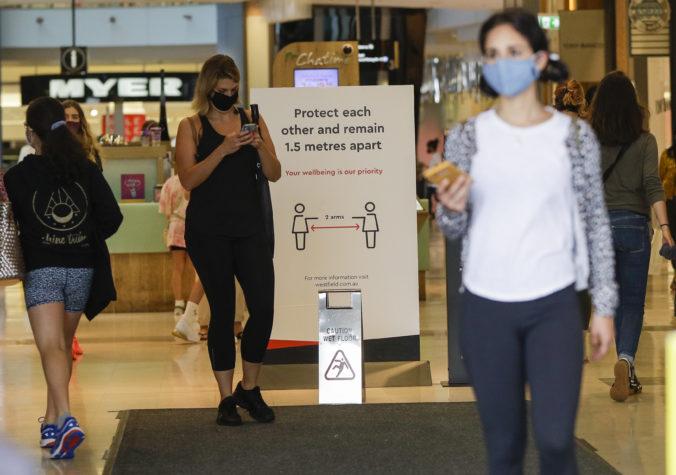Sydney zavádza povinné rúška na niektorých miestach, za porušenie opatrenia hrozí pokuta
