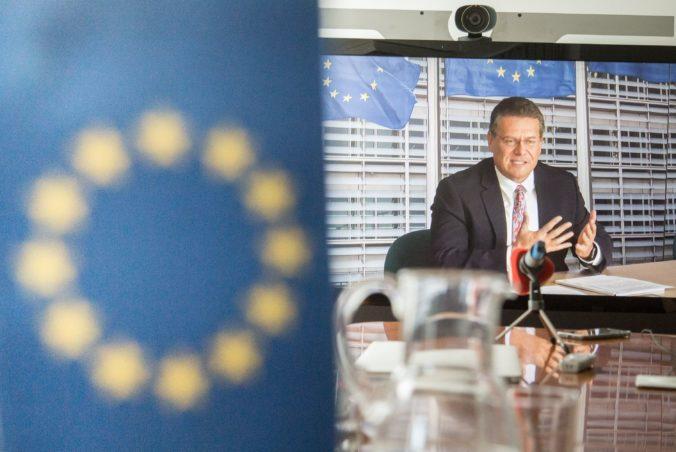 Maroš Šefčovič sa stap spolupredsedom Rady pre partnerstvo EÚ a Spojeného kráľovstva
