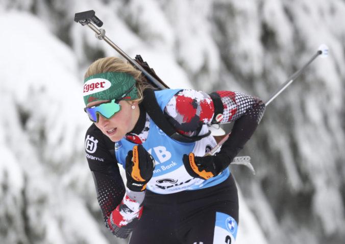 Hauserová vyhrala vytrvalostné preteky biatlonistiek v Anterselve, Horváthová si vylepšila maximum