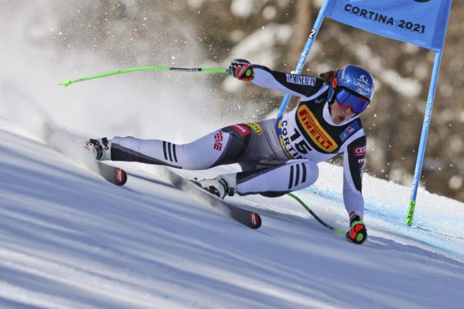 MS v zjazdovom lyžovaní (super G): Vlhová skončila v top 10, Shiffrinová získala bronzovú medailu
