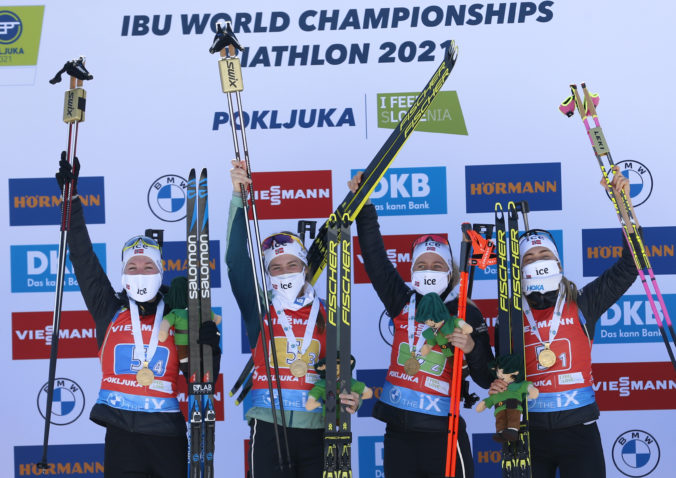 Slovenské reprezentantky na majstrovstvách sveta v biatlone museli preč z trate, Nórky obhájili titul