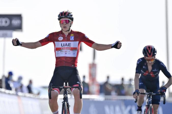 Víťazom úvodných pretekov WorldTour v Spojených arabských emirátoch sa stal Slovinec Pogačar