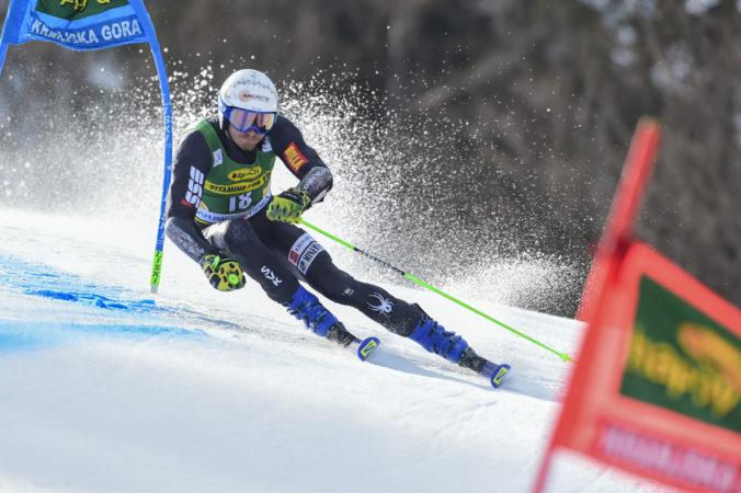 Adam Žampa sa v obrovskom slalome kvalifikoval do finále SP, v Kranjskej Gore obsadil 26. priečku
