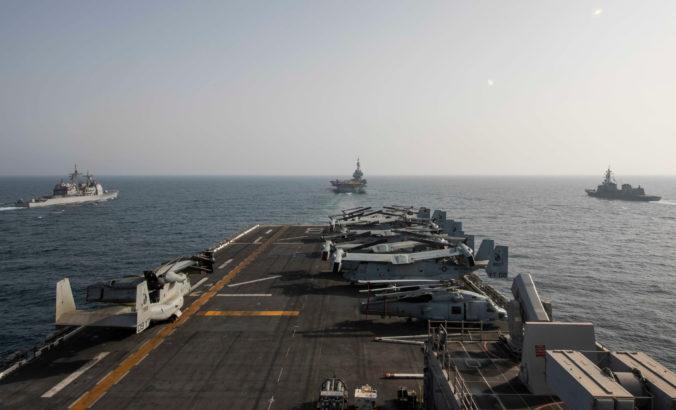 USA, Belgicko, Francúzsko a Japonsko uskutočnia na Blízkom východe veľké námorné cvičenie