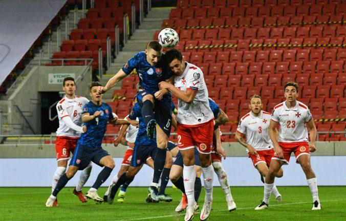 Slovensko neporazilo ani Maltu, po polčase prehrávalo 0:2