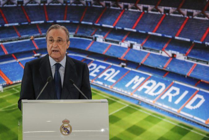 Futbalové kluby nemôžu len tak odísť z Európskej superligy, varuje Pérez z Realu Madrid