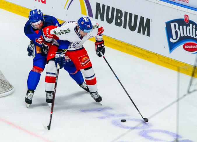 Slovenskí hokejisti tesne nestačili na Česko, góly padli až v závere zápasu