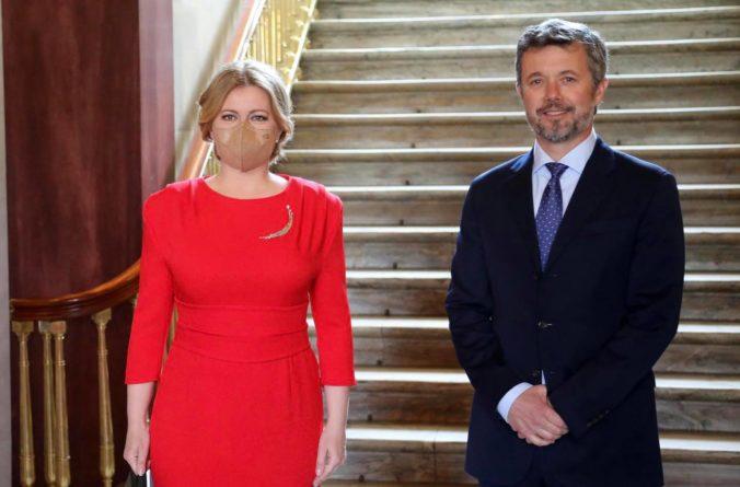 Prezidentka Čaputová sa stretla s dánskym korunným princom Frederikom, pozvala ho na Slovensko