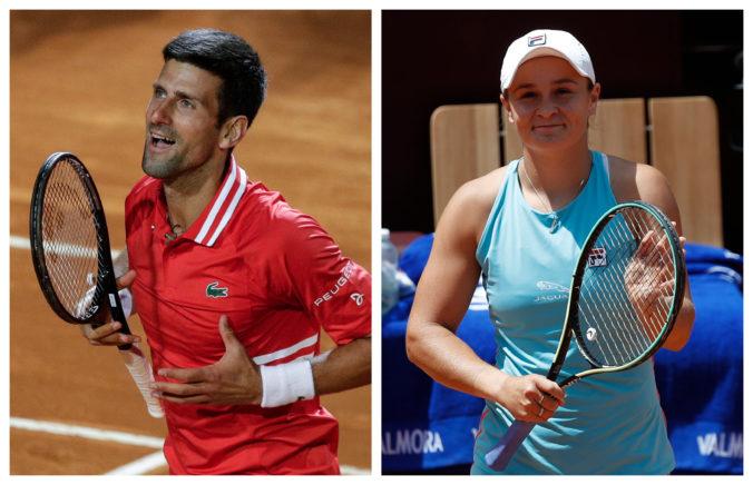 Tenistom a tenistkám v rebríčkoch ATP a WTA naďalej kraľujú Novak Djokovič a Ashleigh Bartyová