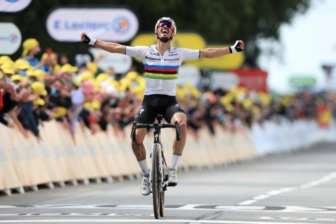 Tour de France 2021 (1. etapa): Alaphilippe vyhral a získal žltý dres, Sagan o triumf nebojoval (video+foto)