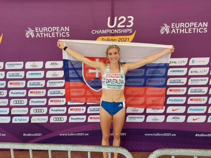 Zapletalová si odniesla domov zlato, stala sa majsterkou Európy do 23 rokov na 400 m prekážok