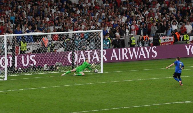 Penaltový rozstrel vo finále ME vo futbale 2020 sledovalo v televízii najviac Britov od pohrebu princeznej Diany