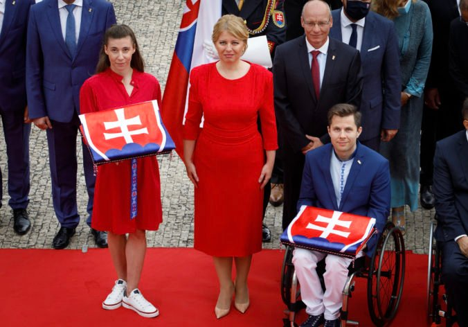 Mokošová a Malenovský zložili olympijský sľub do rúk prezidentky, Čaputová zaželala slovenským športovcom veľa úspechov (foto)