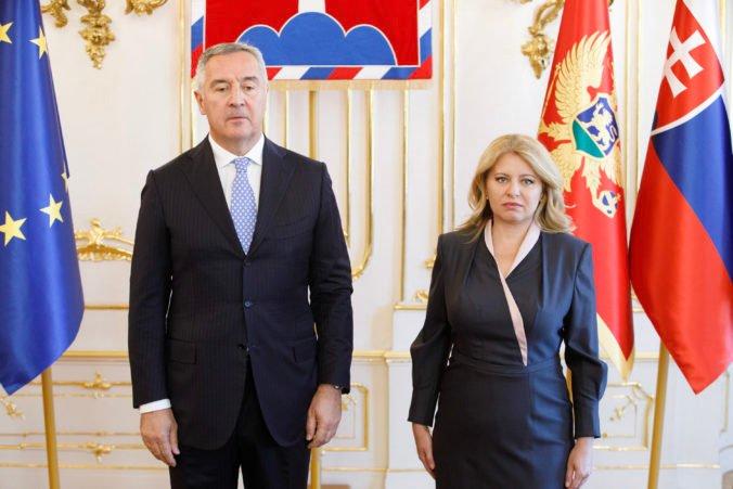 Čaputová sa stretla s Djukanovičom, Čierna Hora je podľa prezidentky na dobrej ceste do Európskej únie (foto)