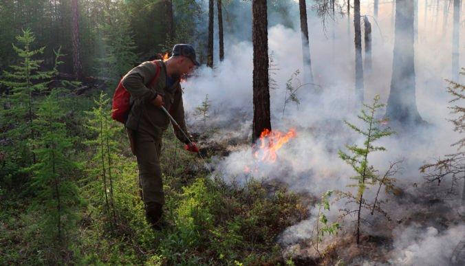 Sibír sužujú rozsiahle lesné požiare, na pomoc boli nasadené armádne lietadlá