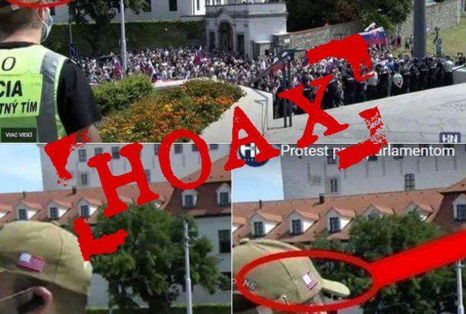 Na protestoch pred parlamentom boli tajní americkí agenti, policajti vyvracajú ďalší hoax