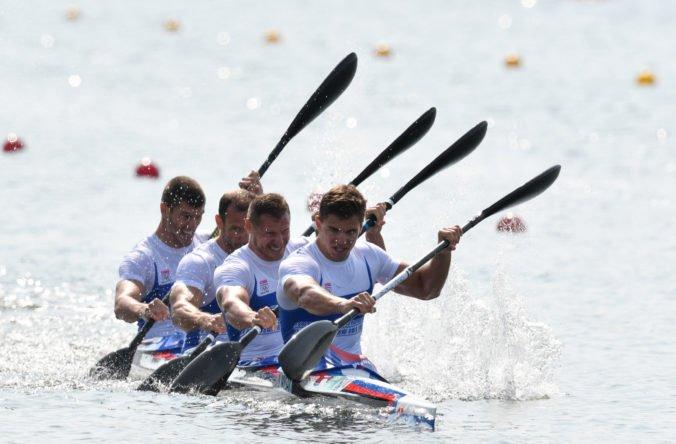 Letná olympiáda v Tokiu (rýchlostná kanoistika): Slovenská K4 dobre chytila štart a v rozjazde skončila druhá