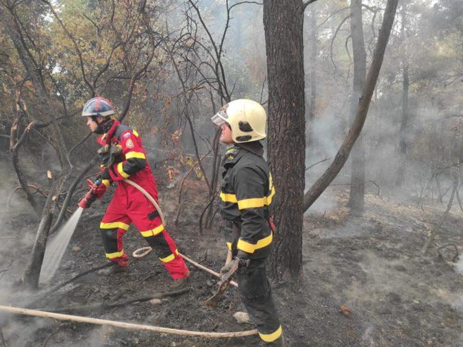 Slovenským hasičom sa podarilo dostať v Grécku pod kontrolu požiare v Avgrii (foto)