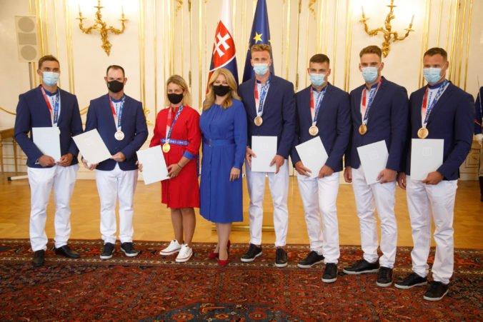 Čaputová prijala olympijských medailistov z Tokia, poďakovala sa im za reprezentáciu i obrovské sebaobetovanie (video+foto)