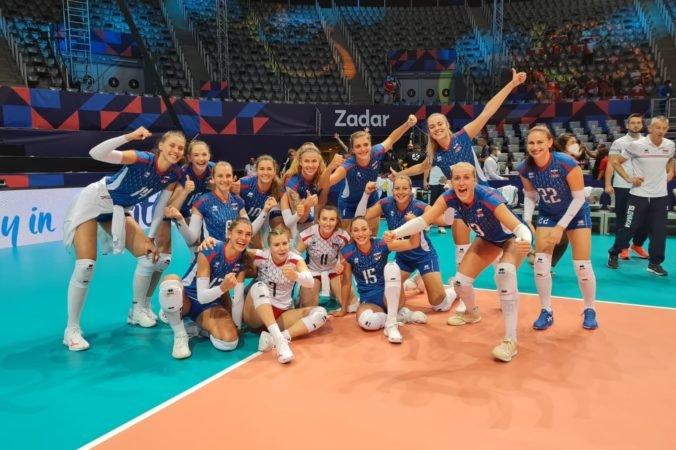 Slovenské volejbalistky dosiahli na ME prvé víťazstvo, živia postupovú šancu do osemfinále (video)