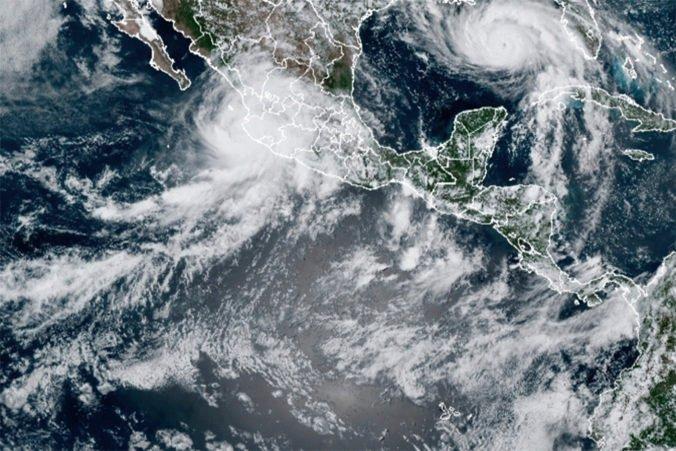 Hurikán popri mexickom pobreží mieri na Kalifornský záliv, očakávajú záplavy či zosuvy bahna