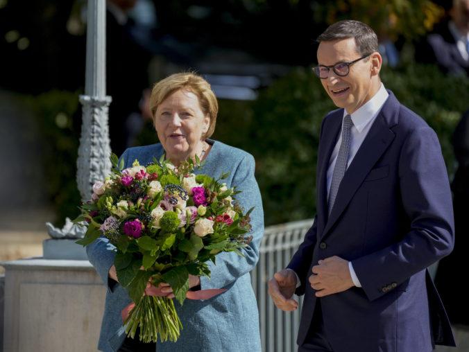 Merkelová rokovala v Poľsku o ochrane hraníc Únie, prezident vzájomné stretnutie zrušil