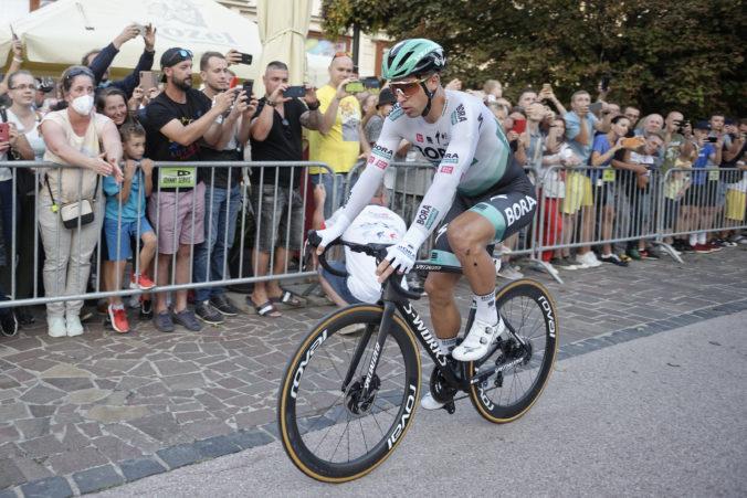 Na pretekoch Okolo Slovenska sa Sagan v 3. etape obliekol do žltého dresu lídra