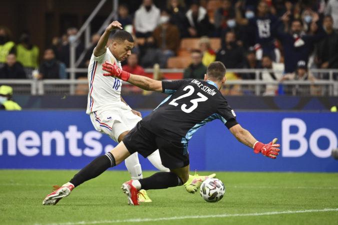 Benzema a Mbappé otočili v druhom polčase proti Španielom na 2:1 a ovládli Ligu národov (video)